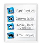 Het Winkelen van het Web van de waarborg Banner royalty-vrije illustratie