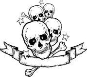 De Banner van het zware Metaal/van de Rots   royalty-vrije illustratie