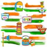 De banner van India voor verkoop en bevordering Royalty-vrije Stock Foto