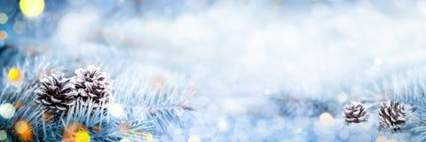De Banner van de Kerstmisdecoratie stock foto