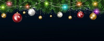 De Banner van de Kerstmisvakantie Stock Afbeeldingen