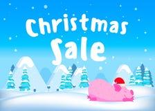 De banner van de Kerstmisverkoop stock illustratie