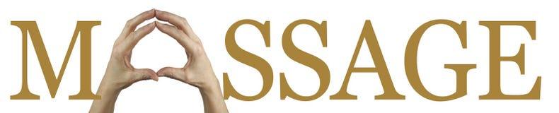 De Banner van massagehanden stock foto