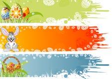 De banner van Pasen met eieren, rabijn Royalty-vrije Stock Foto's