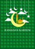 De banner van Ramadhankareem voor Moslims die vieren stock foto