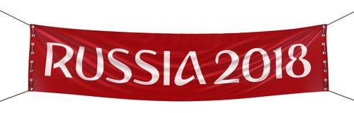 De Banner van Rusland 2018 Royalty-vrije Stock Afbeelding