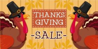 De banner van de thanksgiving dayverkoop royalty-vrije stock foto