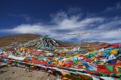 De banner van Tibet Stock Foto's