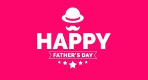 De banner van de vader` s dag, affiche, behang, achtergrond met het vector van letters voorzien royalty-vrije stock fotografie