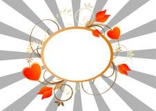 De Banner van valentijnskaarten Stock Afbeelding
