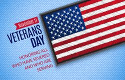 De Banner van de veteranendag stock fotografie