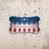 De Banner van de veteranendag op grungeachtergrond vector illustratie
