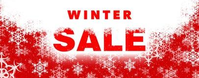 De banner van de de winterverkoop royalty-vrije stock foto's