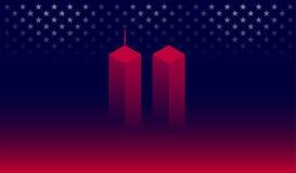 911 de banner vectorillustratie van Memorial Day van de aanvalsherinnering Vector Illustratie
