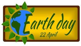 De banneraffiche van de aardedag Stock Afbeeldingen