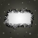 De bannerillustratie van de sneeuwvlok Stock Foto's