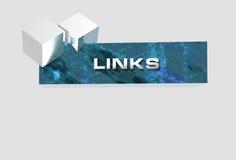 De bannerlinks van het embleem Stock Foto