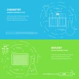 De bannermalplaatje van de chemiebiologie Stock Foto