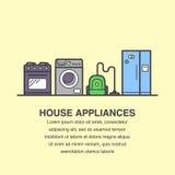De bannermalplaatje van huistoestellen voor reclame vector illustratie