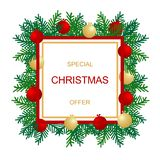 De bannermalplaatje van de Kerstmisverkoop Vector grafische illustratie royalty-vrije illustratie