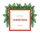 De bannermalplaatje van de Kerstmisverkoop Vector grafische illustratie stock illustratie