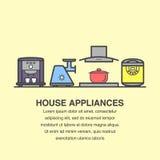 De bannerontwerp van keukentoestellen vector illustratie