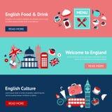 De bannerreeks van Engeland Stock Afbeeldingen
