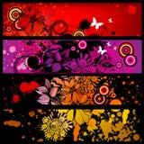 De bannerreeks van Grunge royalty-vrije illustratie