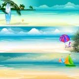 De bannerreeks van het de zomerthema Stock Fotografie