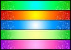 De bannerreeks van het gebladerte (02) Royalty-vrije Stock Afbeelding