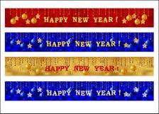De bannerreeks van het nieuwjaarweb Stock Afbeelding