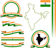 De bannerreeks van India Royalty-vrije Stock Foto