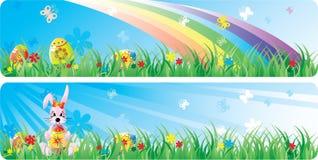 De bannerreeks van Pasen van Colorfol Stock Foto