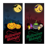 De banners of de vliegersconcept van Halloween Stock Foto's