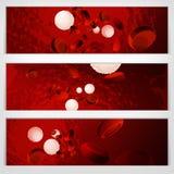 De banners van bloedcellen vector illustratie