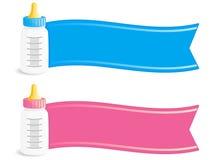De Banners van de baby Stock Fotografie