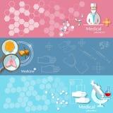 De banners van de bloeddonatiefarmacie van de geneeskundegezondheidszorg Royalty-vrije Stock Afbeelding