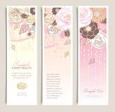 De banners van de bloem Stock Afbeeldingen
