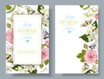 De banners van de bloemvlinder Royalty-vrije Stock Afbeeldingen
