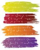 De banners van de borstel met tekst stock illustratie