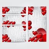 De banners van de Dag van valentijnskaarten Royalty-vrije Stock Foto's