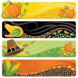 De Banners van de dankzegging Stock Foto's