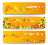 De banners van de de herfstverkoop Stock Afbeeldingen