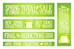 De banners van de de manierverkoop van de lente. Stock Afbeelding