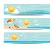 De Banners van de de zomerkopbal Royalty-vrije Stock Afbeeldingen