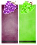 De Banners van de druif Royalty-vrije Stock Afbeelding