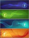 De banners van de geneeskunde Royalty-vrije Stock Foto's