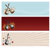 De Banners van de gitaar Stock Afbeelding