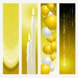 De banners van de gouden bruiloft Stock Fotografie