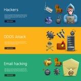De Banners van de hakkeractiviteit Stock Afbeelding